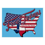 Free Texans Poster