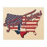 Free Texans Wood Wall Art