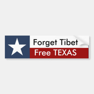 Free TEXAS Bumper Sticker