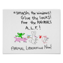 Free The ANIMALS A.L.F.! Poster