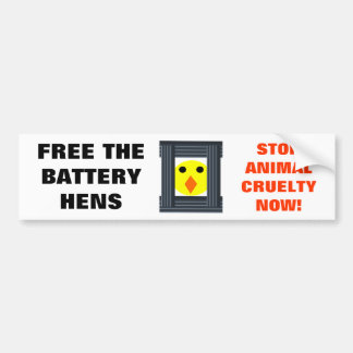 Free the Battery Hens Bumper Sticker