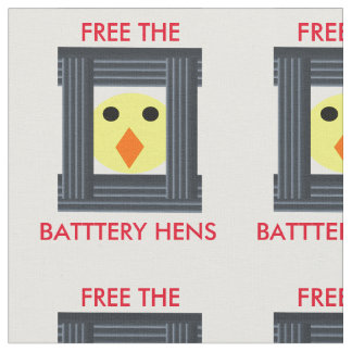 Free the Battery Hens Craft Fabric