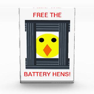 Free the Battery Hens Decoration Acrylic Award