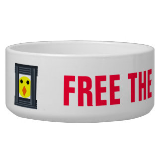 Free the Battery Hens Dog Bowl