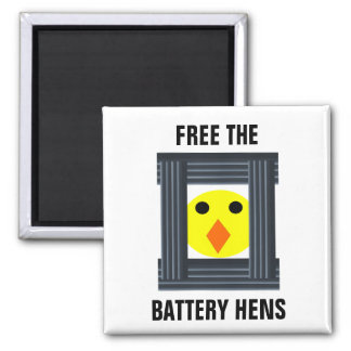 Free The Battery Hens Magnet