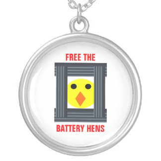 Free The Battery Hens Necklace