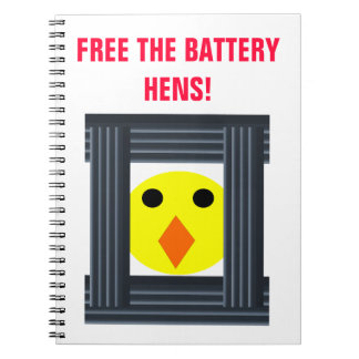 Free the Battery Hens Notebook