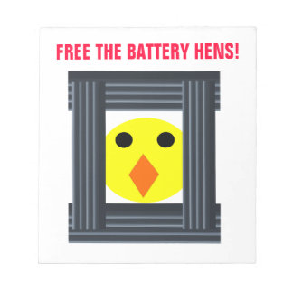 Free the Battery Hens Notepad