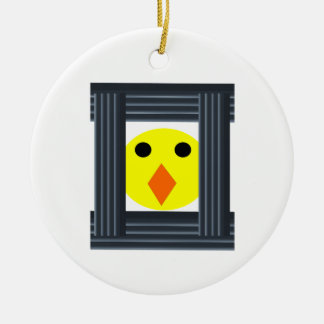 Free the Battery Hens Pendant Ceramic Ornament
