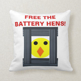 Free the Battery Hens Pillow