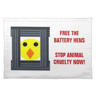 Free the Battery Hens Placemat