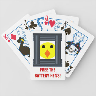 Free the Battery Hens Playing Cards
