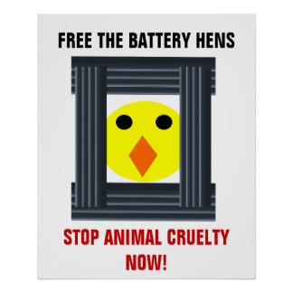 Free The Battery Hens Poster