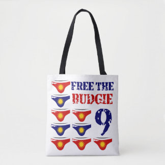 Free the budgie 9 tote bag