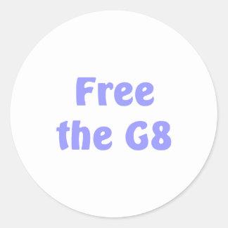 Free The G8 Classic Round Sticker
