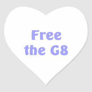 Free The G8 Heart Sticker