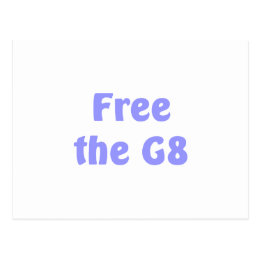 Free The G8 Postcard