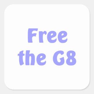 Free The G8 Square Sticker