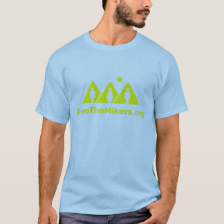 Free The Hikers Tee: Blue/Yellow T-Shirt