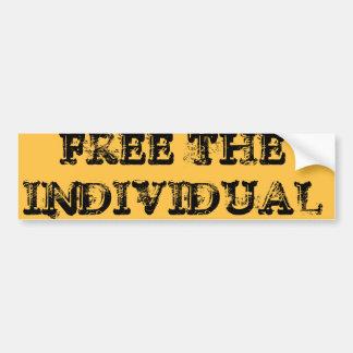 FREE THE INDIVIDUAL CAR BUMPER STICKER