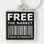 Free The Market Key Chain