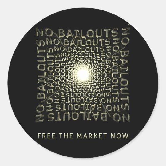 Free The Market Now Classic Round Sticker