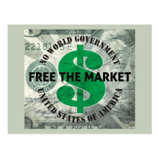 Free The Market Postcard
