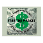 Free The Market Postcards