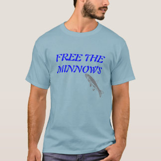 Free the Minnows Tshirt Blue-Gray