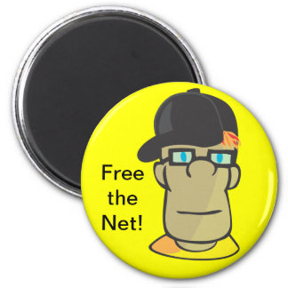 Free the Net! 2 Inch Round Magnet
