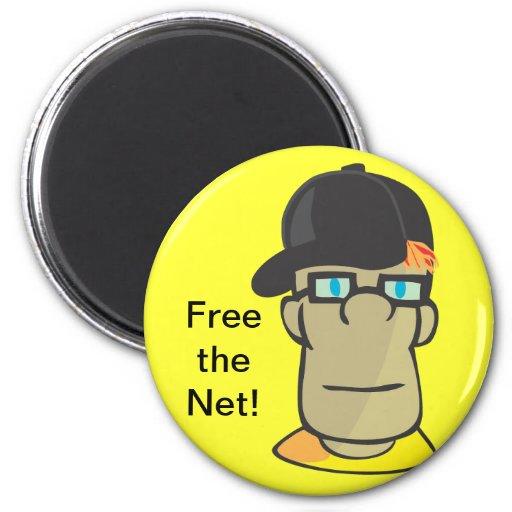 Free the Net! Fridge Magnet