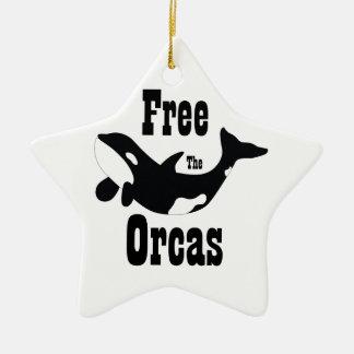 Free The Orcas Ceramic Ornament