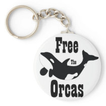 Free The Orcas Keychain