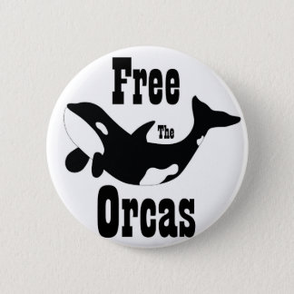 Free The Orcas Pinback Button