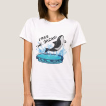 FREE THE ORCAS! T-Shirt