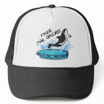 FREE THE ORCAS! TRUCKER HAT