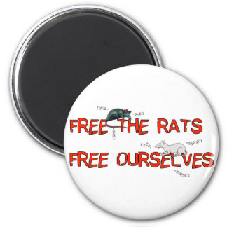 Free The Rats 2 Inch Round Magnet