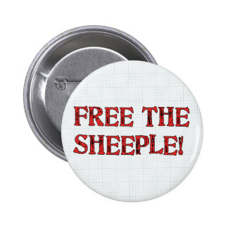 Free The Sheeple! Pin