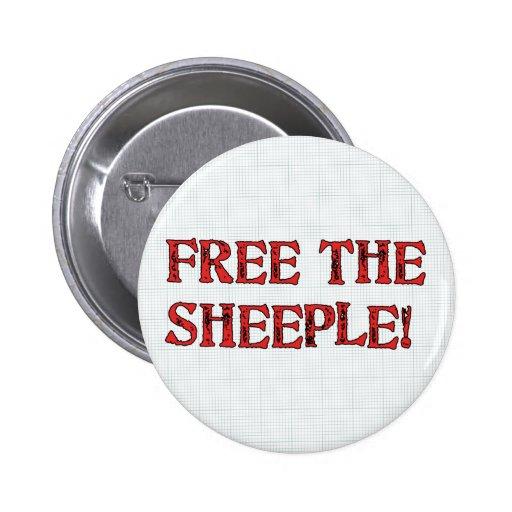 Free The Sheeple! Pin