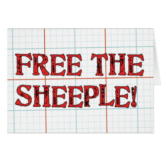 Free The Sheeple! Card
