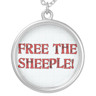 Free The Sheeple! Round Pendant Necklace