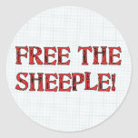 Free The Sheeple! Round Stickers