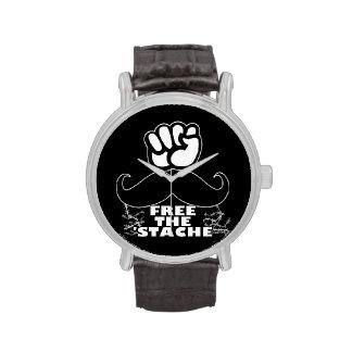 Free The 'Stache Wristwatch