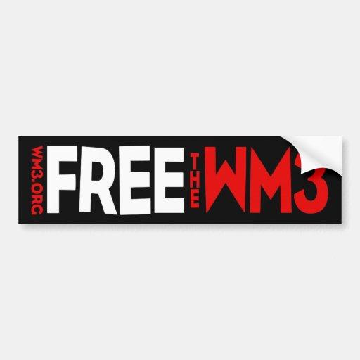 FREE THE WM3 bumper sticker