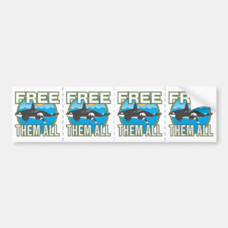 Free Them All (Whales) Car Bumper Sticker
