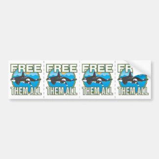 Free Them All (Whales) Bumper Sticker
