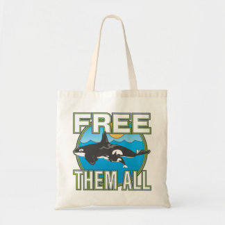 Free Them All (Whales) Tote Bag