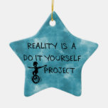 Free Thinker Double-Sided Star Ceramic Christmas Ornament