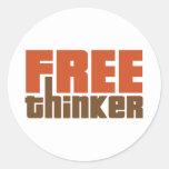 Free Thinker Round Stickers