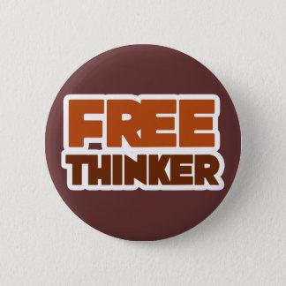 Free Thinker using Logic and Reason Pinback Button